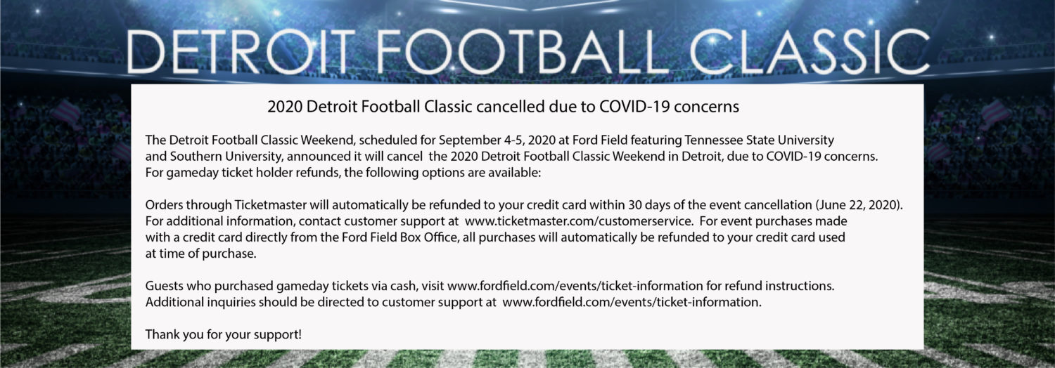 Detroit Football Classic postponed until further notice
